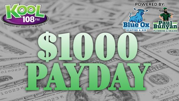 Listen To Win $1000 With The Thousand Dollar Payday On KOOL 108