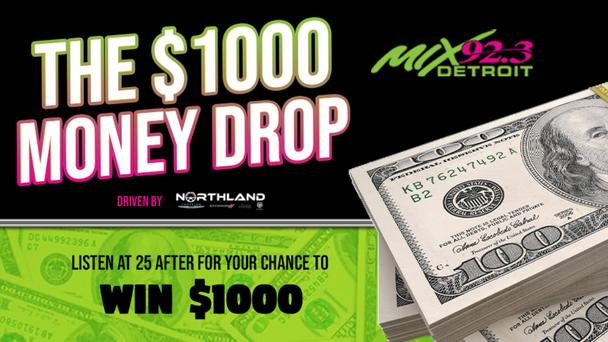 The $1,000 Money Drop on Mix 92.3