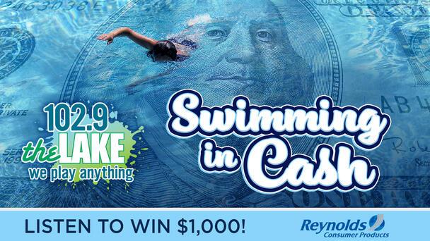 Swimming In Cash! Listen To Win $1000!