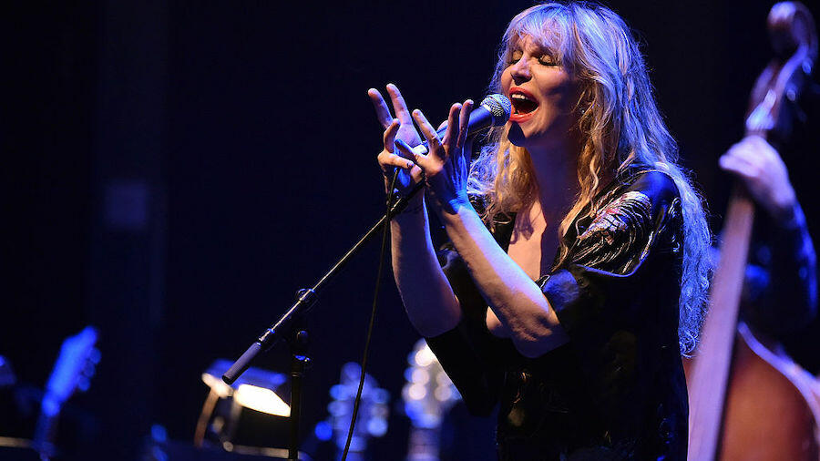 Courtney Love Wipes Away Tears While Covering Britney Spears' 'Lucky'