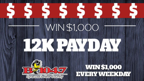 12 chances to win every weekday!