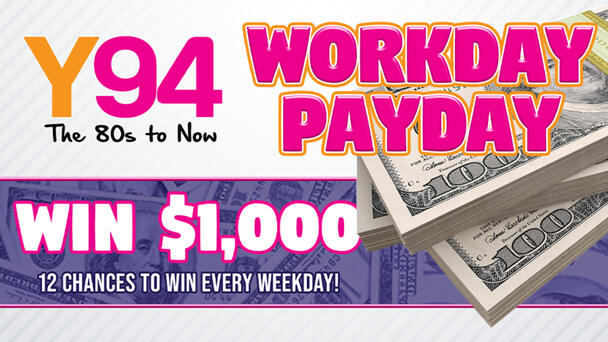 12 chances to win $1000 every weekday!