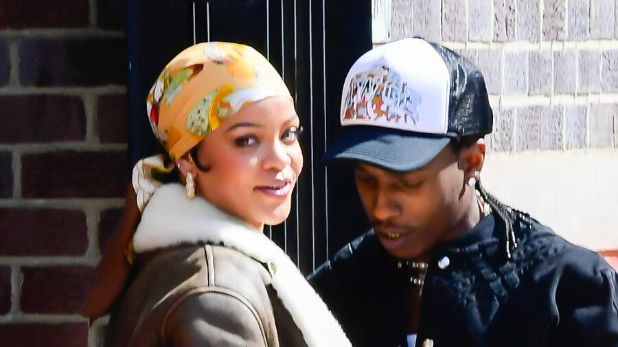 Rihanna & A$AP Rocky Cuddle Up While Filming Music Video — See The Pics