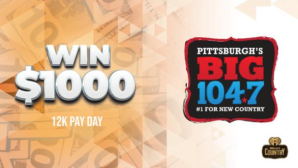 Listen To Win $1,000 via #BIG12KPayday!