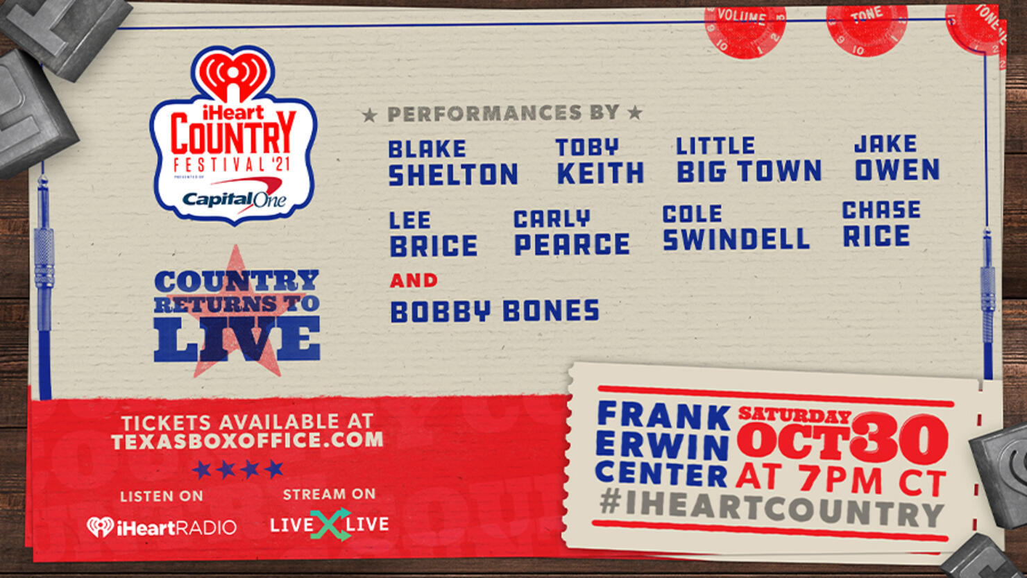 2021 iHeartCountry Festival Lineup: Blake Shelton, Toby Keith & More |  iHeart