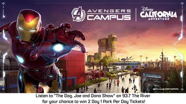 Win Tickets To Avengers Campus at Disney California Adventure with Dog, Joe and Dana