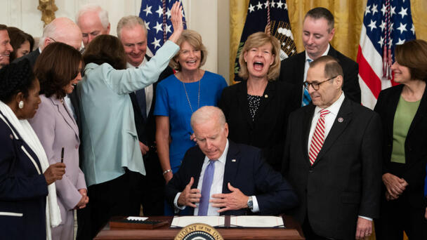 Biden signs the Crime Victims Funds Act
