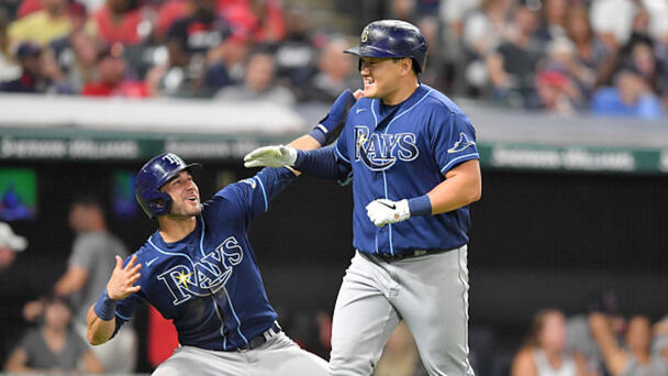 Rays Score 6 Runs in the 9th to Topple Indians 10-5