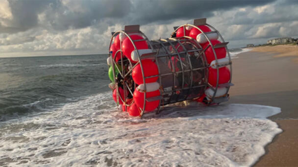 Florida Man Trying To Walk On Water Inside 'Bubble' Washes Up On The Beach