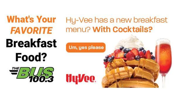 Win Free Hy-Vee Breakfast!