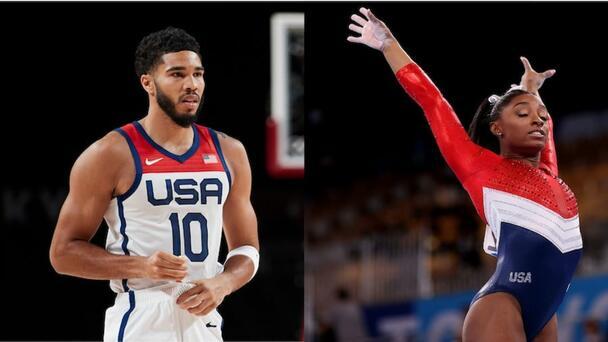 Jayson Tatum Praises Fellow Olympian Simone Biles As 'A Hero'