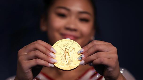 Suni Lee Wins Gold.  Watch Moment She Knew She Won!