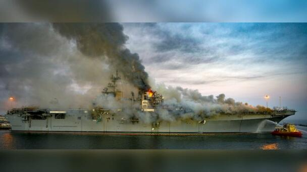 Navy Charges Sailor With Setting Fire That Destroyed Billion-Dollar Ship