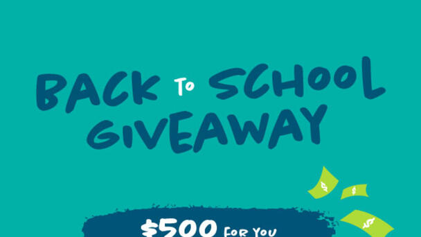 Win $500 for you and $500 for your School or Charity!