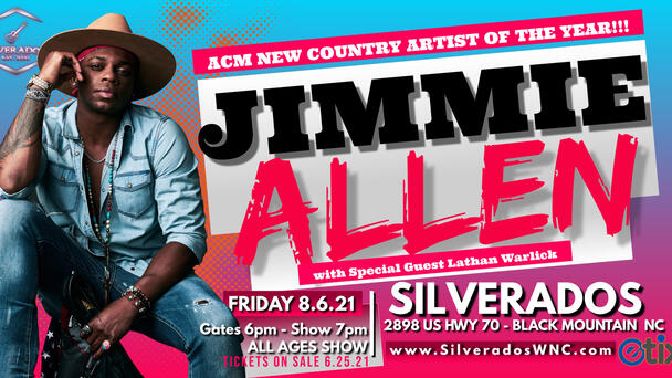 Listen to The Eddie Foxx Show for your chance to win tickets to see Jimmie Allen at Silverados!
