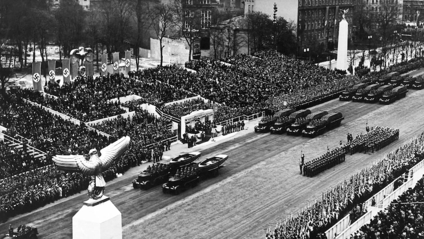 Military Parade For The Celebration Of The 50th Birthday Of Adolf Hitler