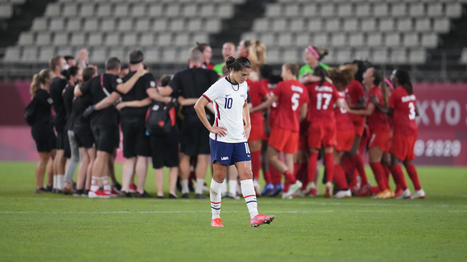U.S. Women's Soccer Stunned, Eliminated By Canada In Tokyo Olympics
