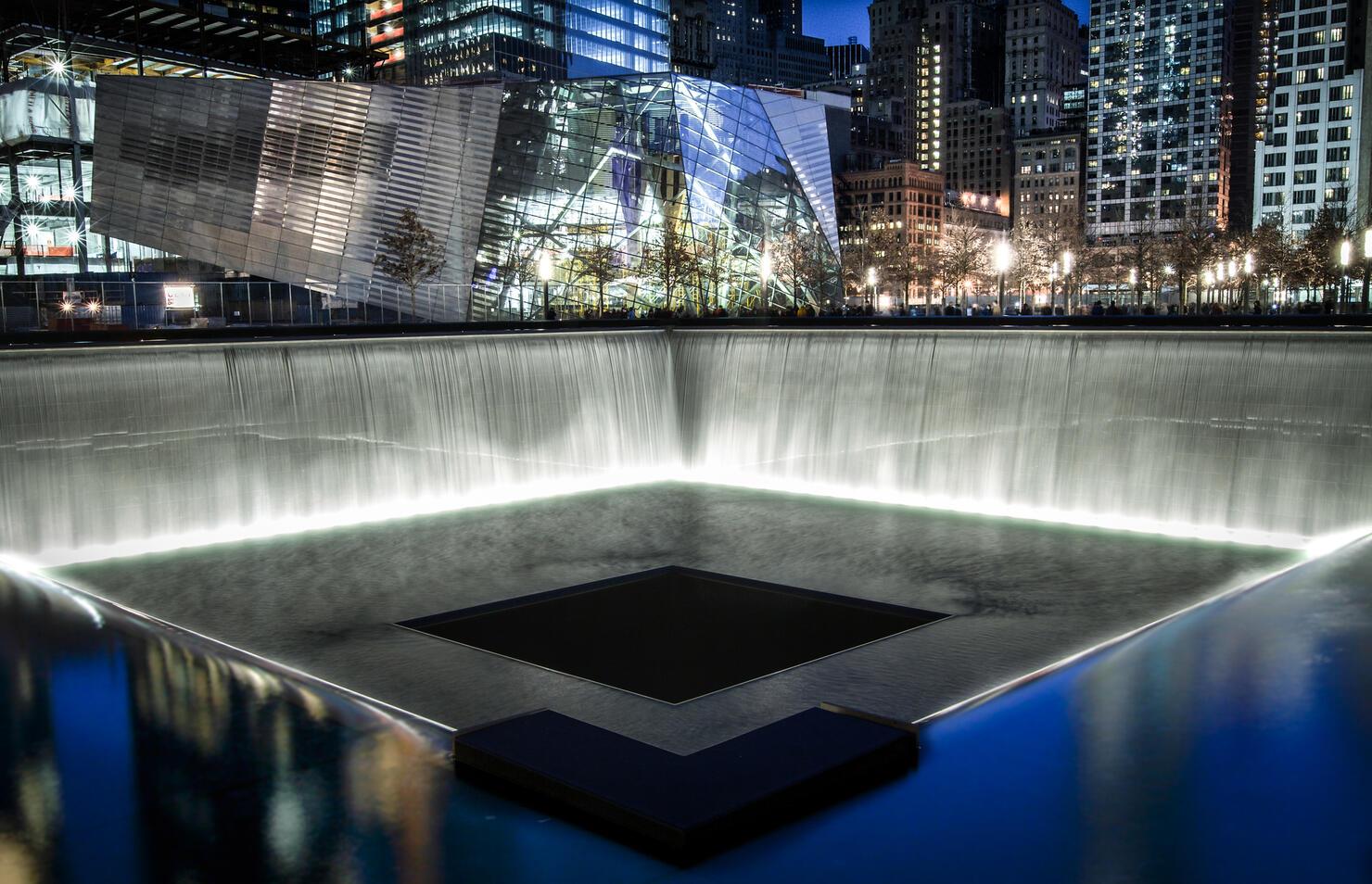 The National September 11 Memorial at Night