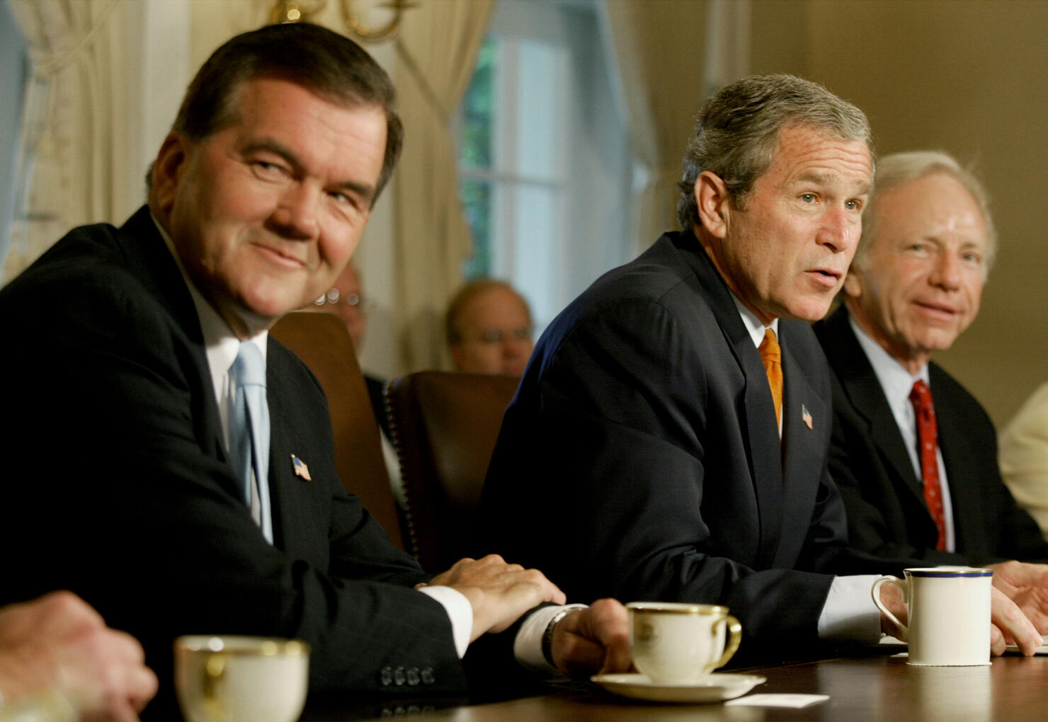 Bush Meets Ridge and Members of Congress