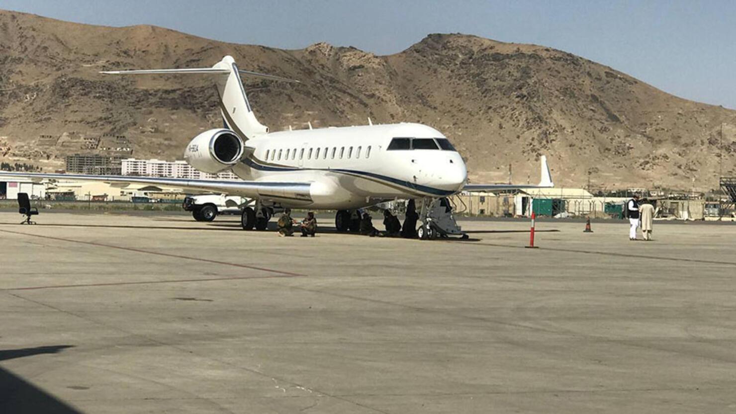 Domestic flights and Pakistani plane at Kabul airport