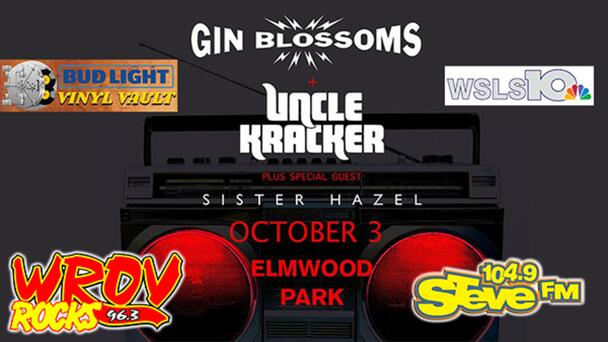 Win Tickets to Gin Blossoms/Uncle Kracker/Sister Hazel at Elmwood Park!
