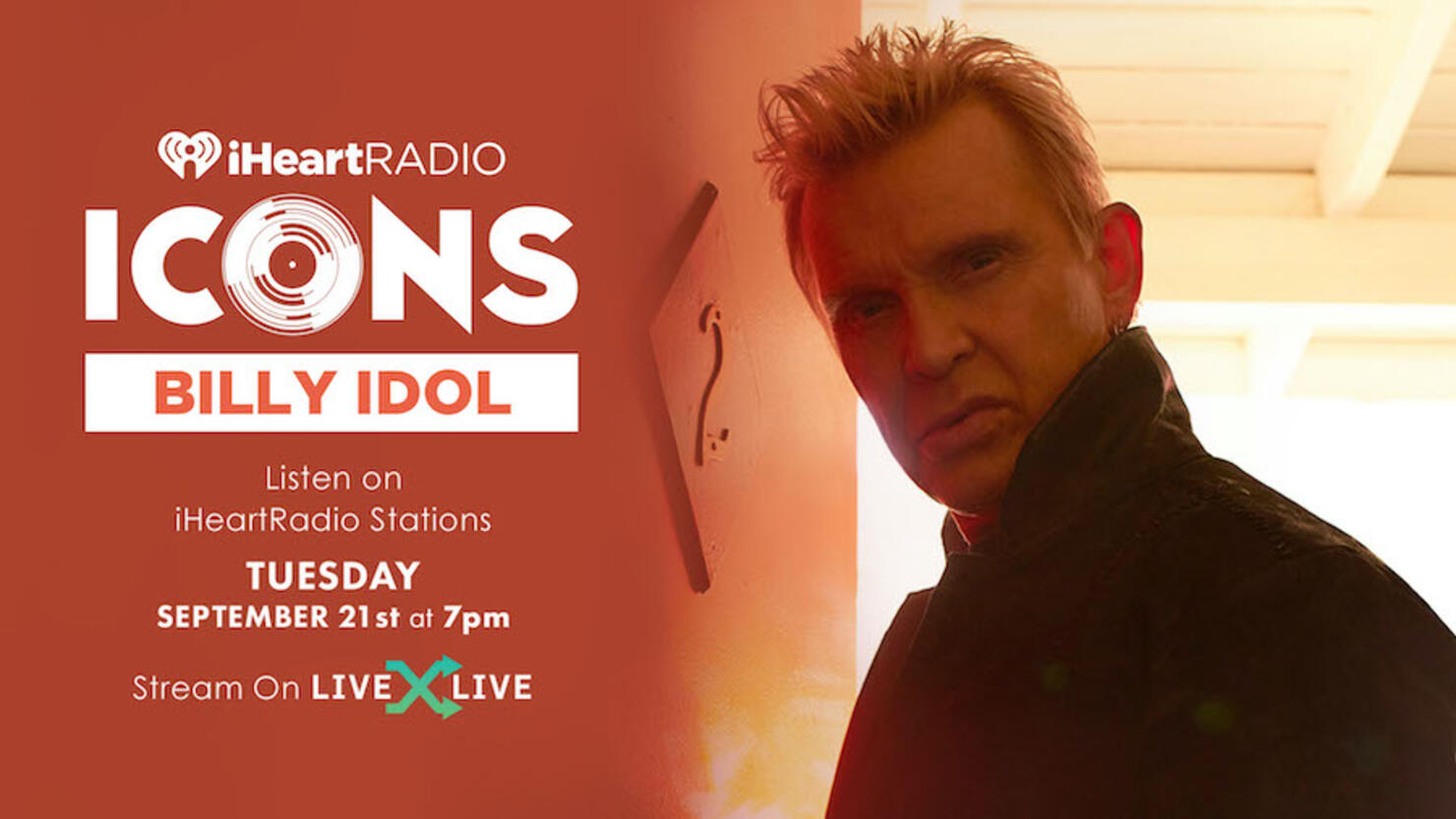 Billy Idol To Celebrate 'The Roadside' During iHeartRadio ICONS Event