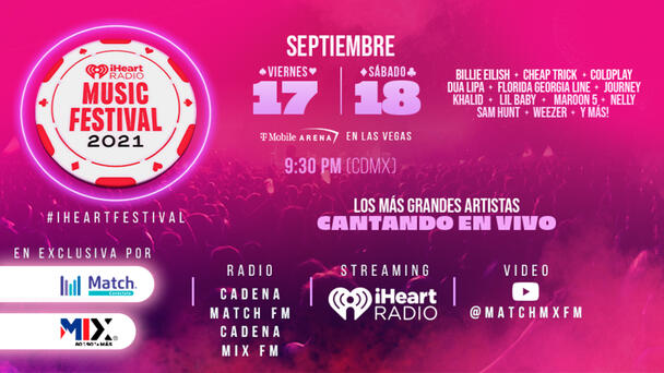 Ve o escucha el iHeartRadio Music Festival 2021