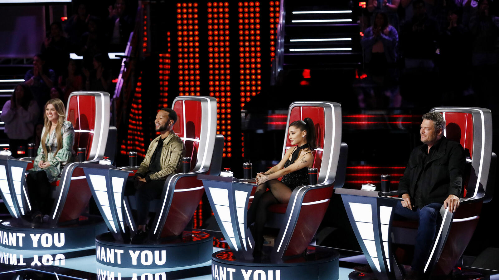 'The Voice' Coaches Joke The 'Bleep Budget Doubled' For Ariana Grande