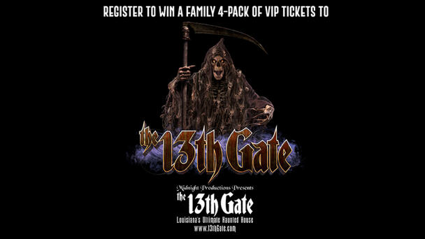 Register to win a family 4-pack of VIP tickets to Midnight Productions presents The 13th Gate's