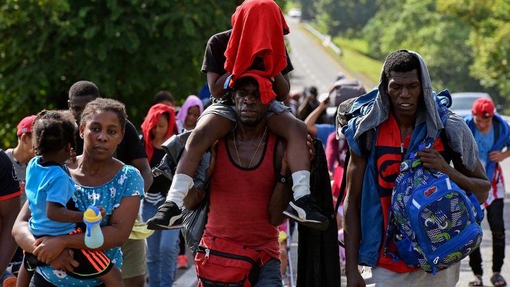 Thousands Of Haitian Migrants Travel To Texas Bridge Amid Nation's Unrest