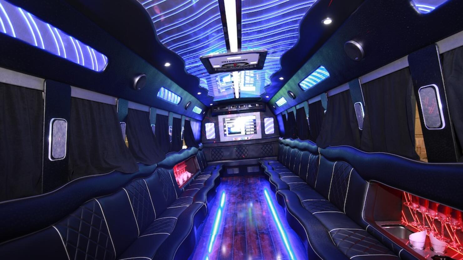 The Inside Of A Party Bus