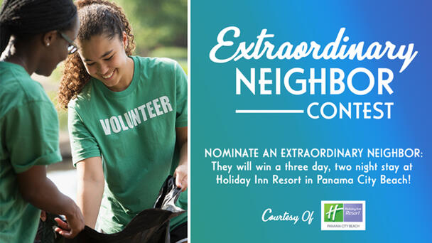 """In the aftermath of Hurricane Ida, Southeast Louisiana stepped up! And 104.1 The Spot wants to say """"thank you"""" to a local hero with a stay at the gorgeous Holiday Inn Resort in Panama City Beach! Click here to nominate them"""