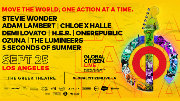 Get Your Ticket Now to Global Citizen Live on 9/25