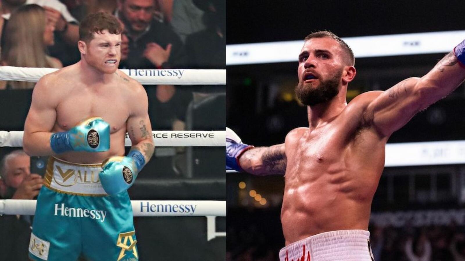 WATCH: Canelo Alvarez, Caleb Plant Fight At Presser For Boxing Match