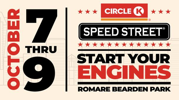 Circle K Speed Street Brings Big Names and Great Music to Romare Bearden Park October 7 – 9!
