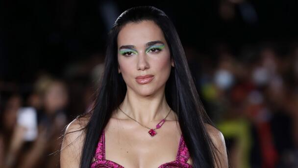 Dua Lipa Makes Her Runway Debut In Versace Fashion Show