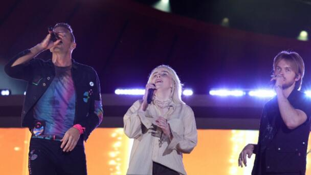 Billie Eilish And Finneas Join Coldplay During Global Citizen Live