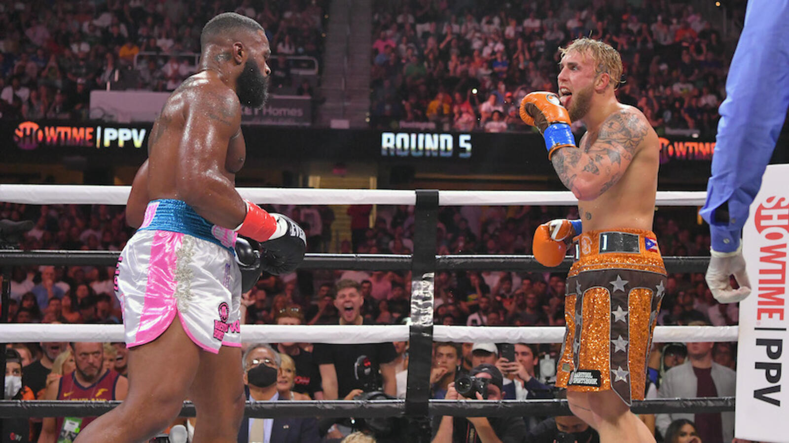 Photo: Tyron Woodley Owns Up To 'I Love Jake Paul' Tattoo Wager