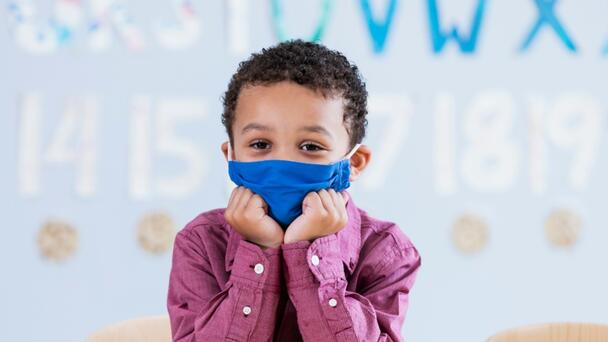 6-Year-Old's School Pictures Go Viral After He Keeps His Mask On