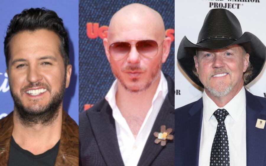 See Trace Adkins, Luke Bryan, And Pitbull Get Rowdy In New Music Video