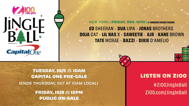 Z100 Jingle Ball Tickets Are Sold Out And The Only Way In Is To Win!
