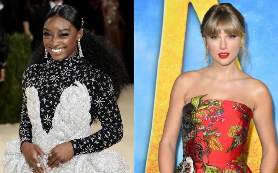 Simone Biles Presents Taylor Swift With Gracie Award For 'Folklore'