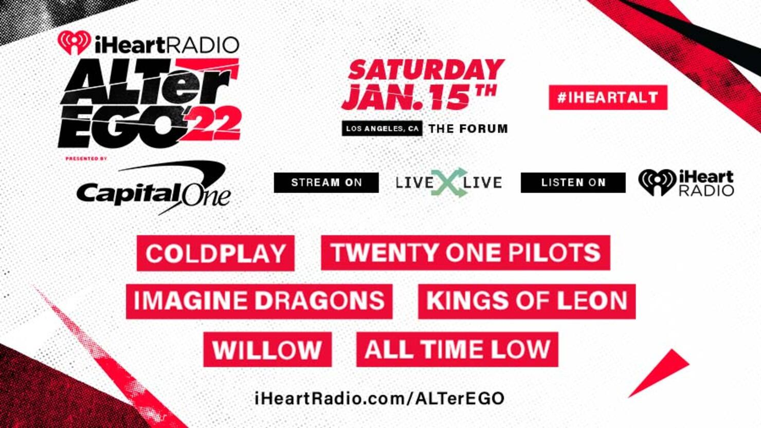 2022 iHeartRadio ALTer EGO Lineup: Coldplay, Twenty One Pilots & More    iHeartRadio