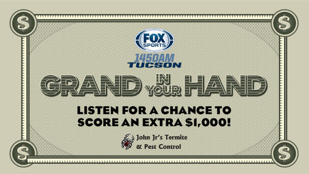 Listen to win a Grand In Your Hand!