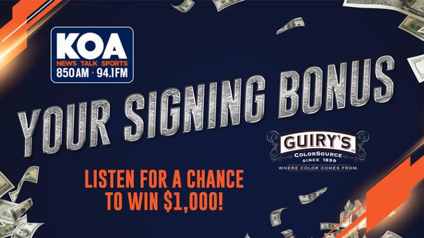Your Signing Bonus - Chance at $1,000