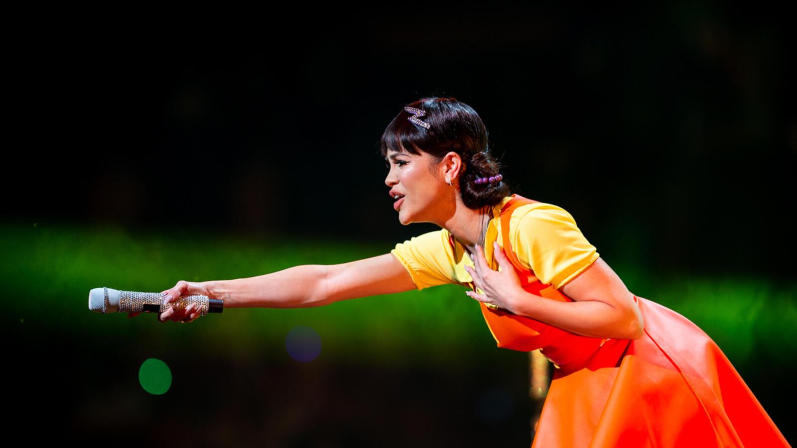 Natti Natasha trajo el SQUID GAME a nuestro iHeartRadio Fiesta Latina 2021