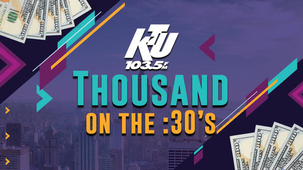 Listen to 103.5 KTU and Win $1,000 Every Hour!