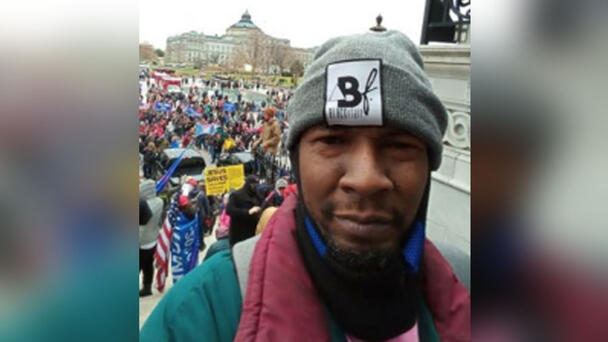 Man Charged In Capitol Riot Stole Officer's Hat, Wore It In YouTube Video