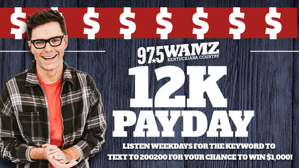 Listen to 97.5 WAMZ every weekday for your chance to win $1,000!