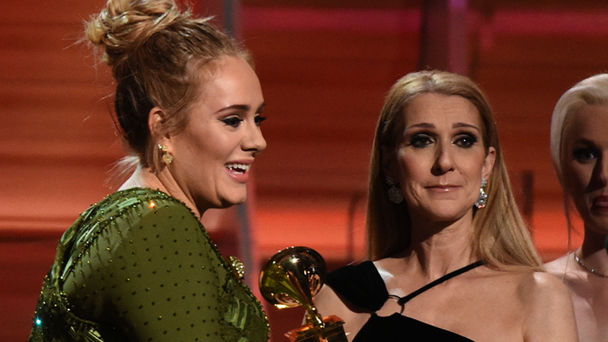 Adele Has A Piece Of Celine Dion's Used Gum Framed In Her House